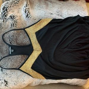 Express black and gold tank top